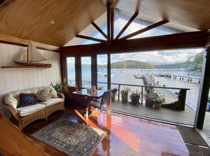 View from the Boathouse for rent in Sydney
