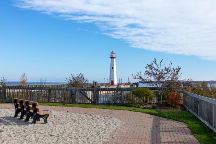 Wawatam Lighthouse in St. Ignace, Michigan via Depositphotos