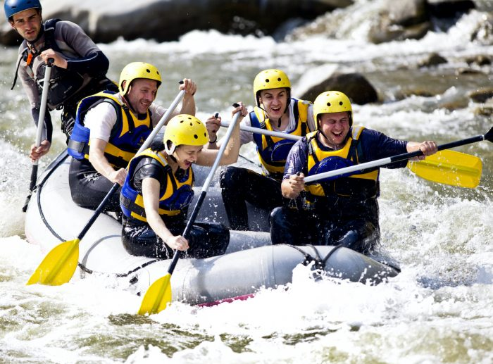 Whitewater rafting adventure photo via Depositphotos