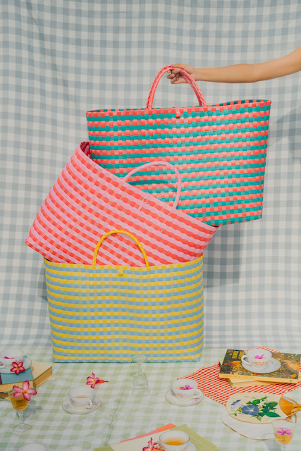 Woven Bags by Sandy Cheeks