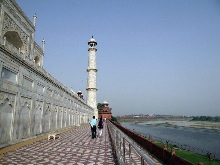 Yamuna River beside Taj Mahal