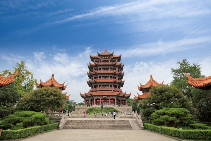 Yellow Crane Tower in Wuhan via Depositphotos
