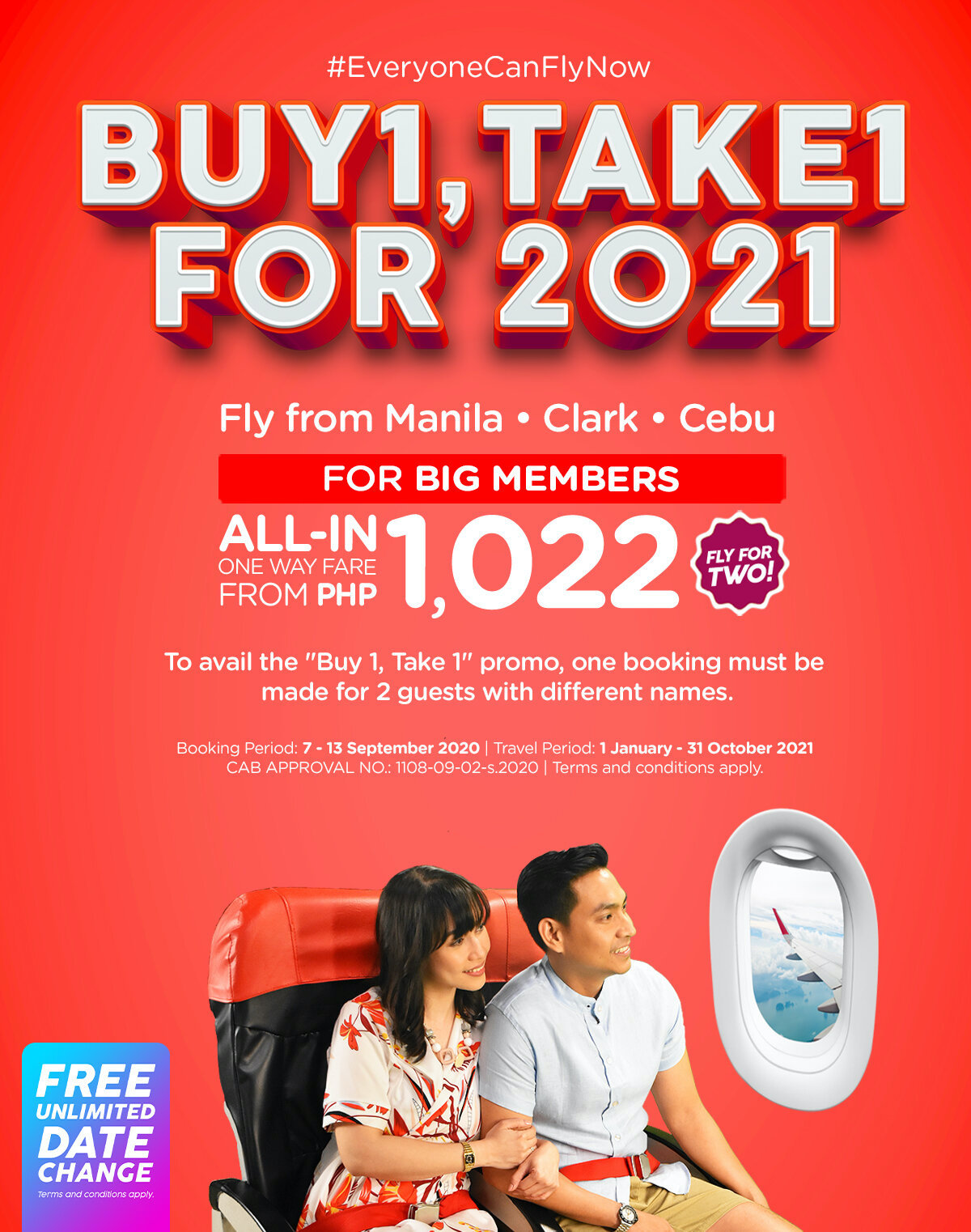 AirAsia offers Buy 1 Take 1 for 2021
