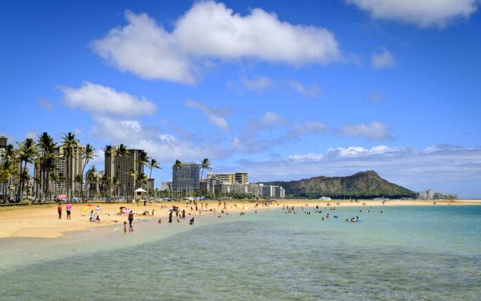 Ala Moana Beach Park photo via Depositphotos