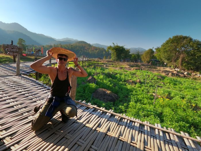 Bamboo Bridge in Pai Thailand