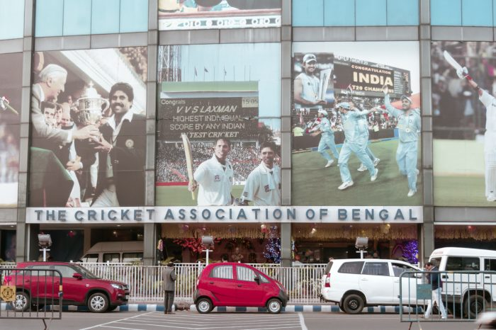 Entrance Gate of iconic cricket stadium Eden Gardens via Depositphotos