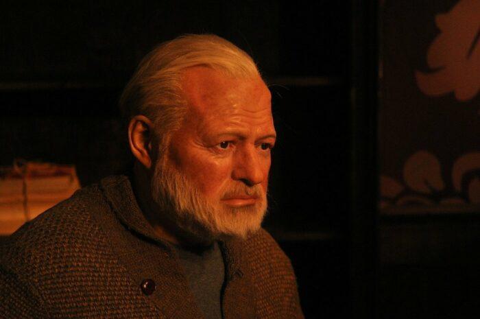 Ernest Hemingway Wax Figure at Madame Tussauds New York