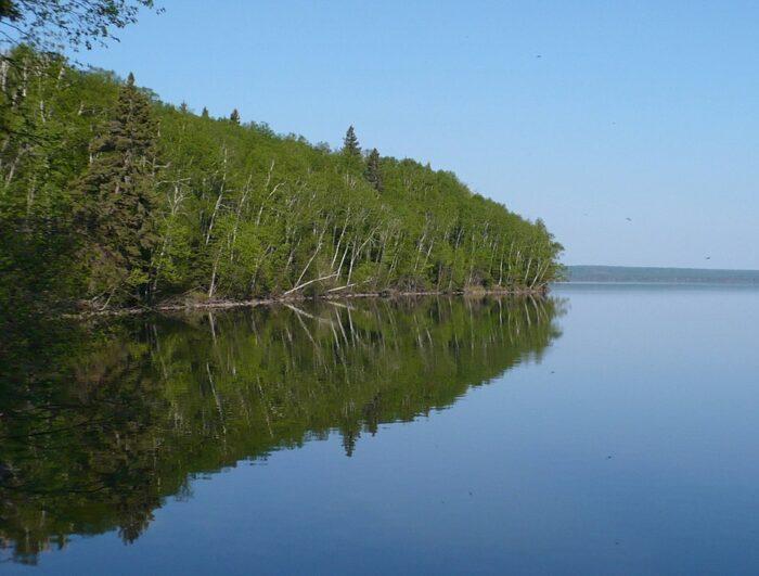 Lake Waskesiu in Prince Albert National Park by Paul Gierzewski via Wikipedia CC