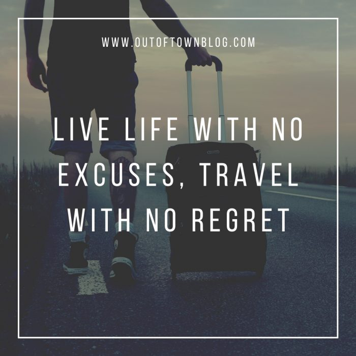 Live Life with no excuses quote