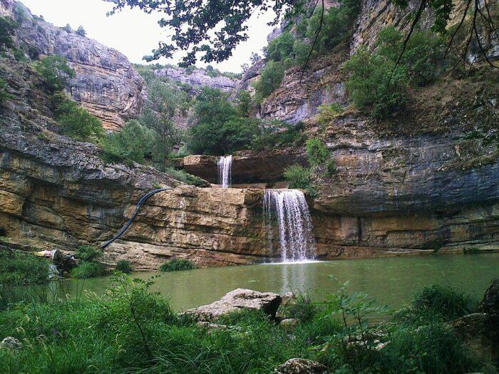 Mirusha Waterfalls in Kosovo by Flutur Gerbeshi via Wikipedia CC