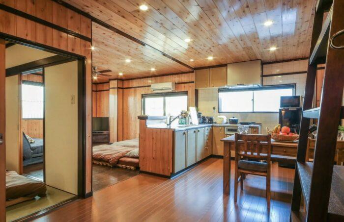 Natural cedar-wood Airbnb apartment rental in Tokyo