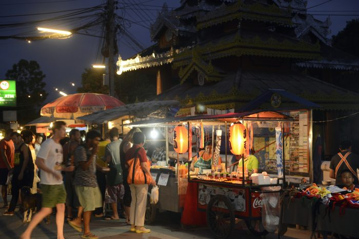 Night Market in Pai Thailand photo via Depositphotos