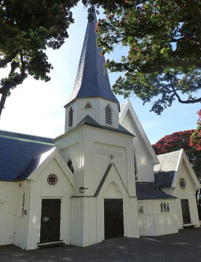 Old St Paul's, Wellington by Michael Klajban via Wikipedia CC