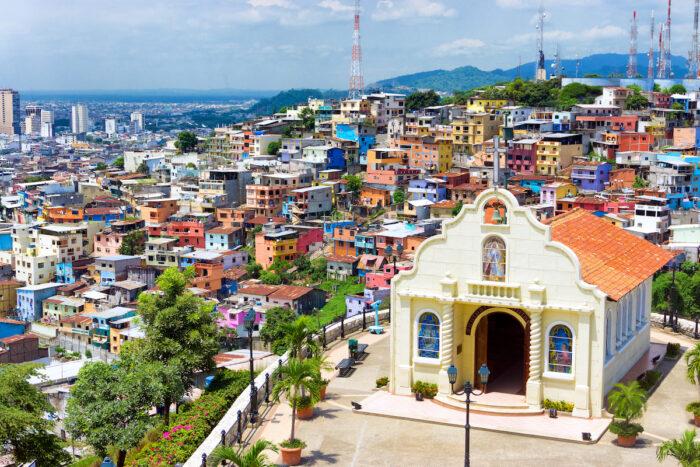 Shutterstock Historic Hilltop Church in Guayaquil via Depositphotos