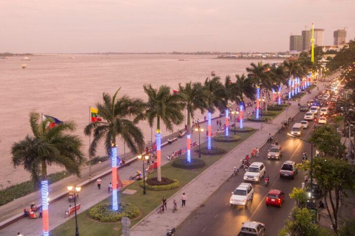 Sisowath Quay in Phnom Penh photo via Depositphotos