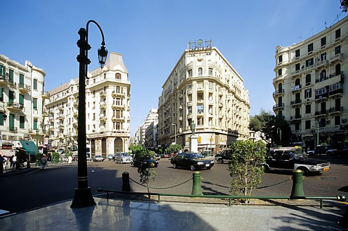 Talaat Harb Square, the heart of Downtown Cairo by Roland Unger via Wikipedia CC
