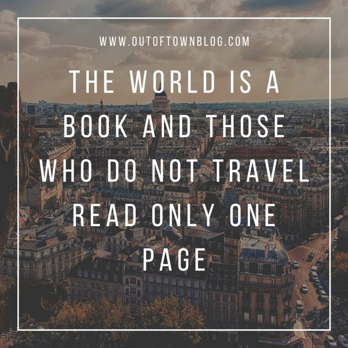 The world is a book - travel quote for Instagram
