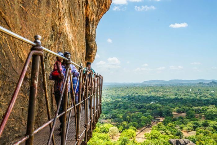 View from Sigiriya Rock Fortress images via Depositphotos