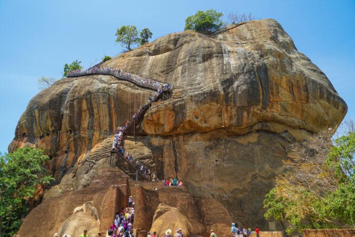 Visiting Sigiriya Rock Fortress in Sri Lanka photo via Depositphotos