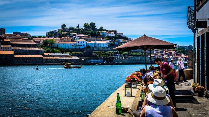 Walking Tour along Douro River in Porto Portugal
