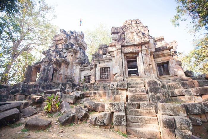 Wat Ek Phnom temple near the Battambang city, Cambodia via Depositphotos