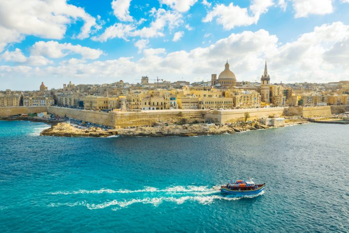 Aerial view of Valletta city - capital of Malta photo via Depositphotos
