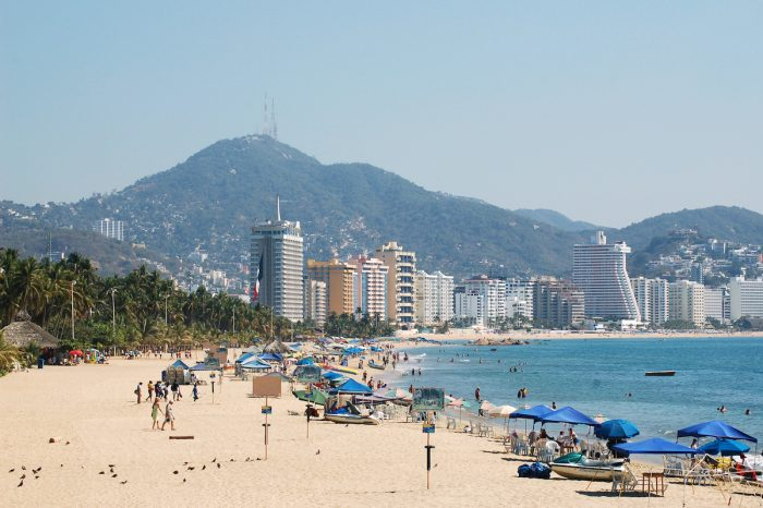 Beach in Acapulco, Mexico via Depositphotos