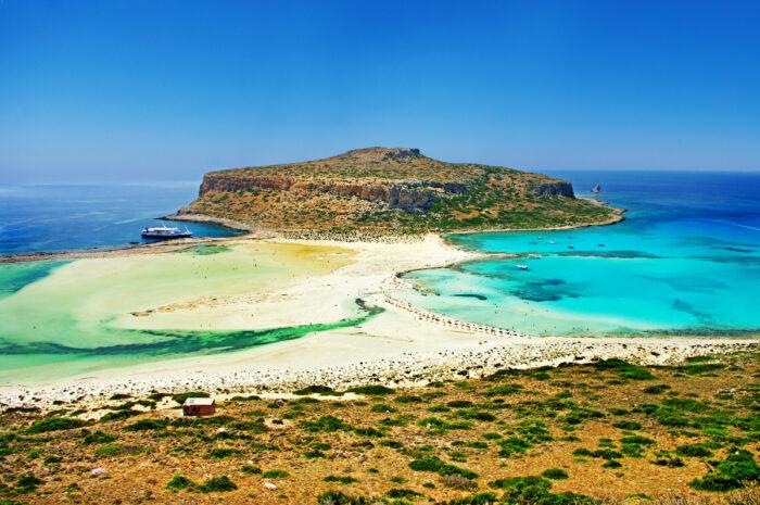 Beautiful beaches of Greece - Crete Balos bay images via Depositphotos