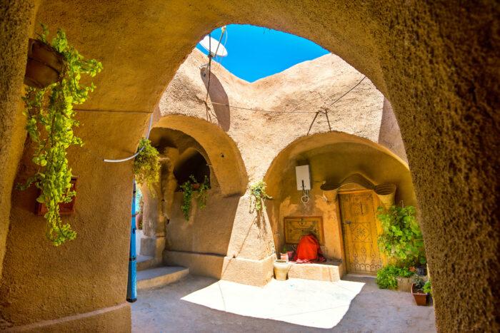 Berber underground dwellings.  Cave dwelling house.  Matmata, Tunisia Photo via Depositphotos