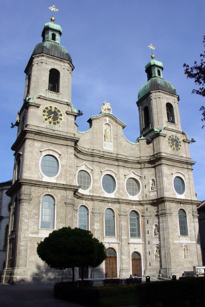 Cathedral of St. James in Innsbruck, Austria by Bede735c via Wikipedia CC