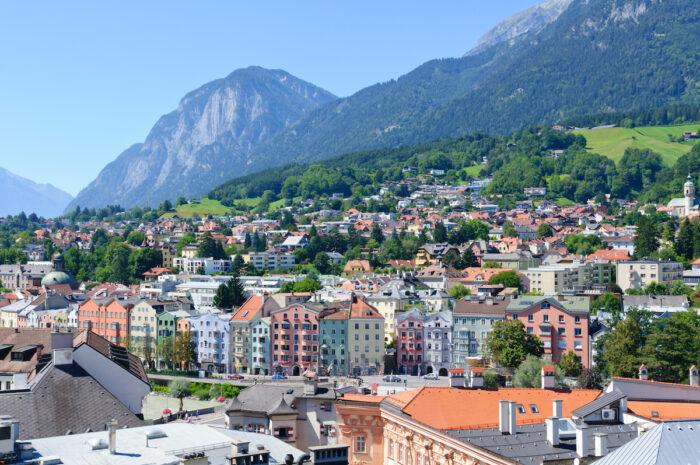 Cityscape of Innsbruck in Austria photo via Depositphotos