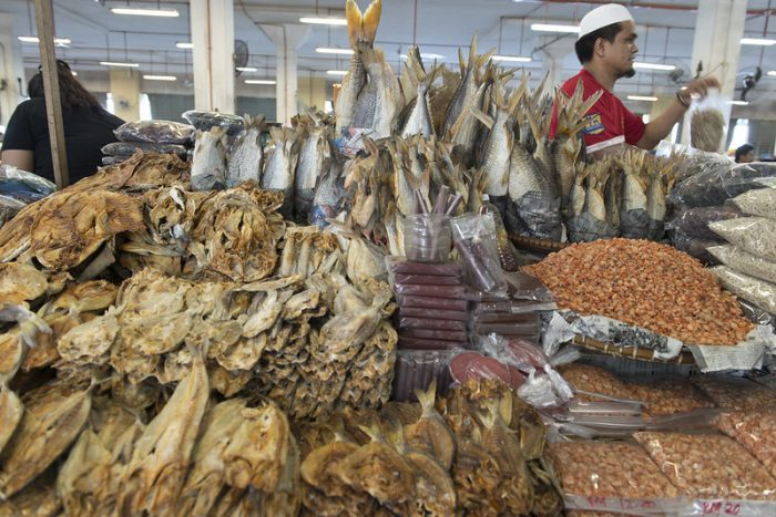 Dried Fish at Sandakan Central Market by Merlijn Hoek via Flickr CC