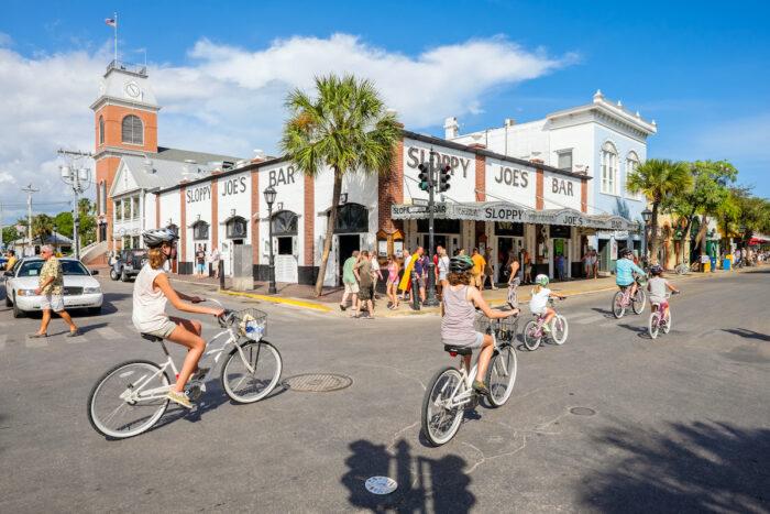Duval Street in Key West Florida photo via Depositphotos
