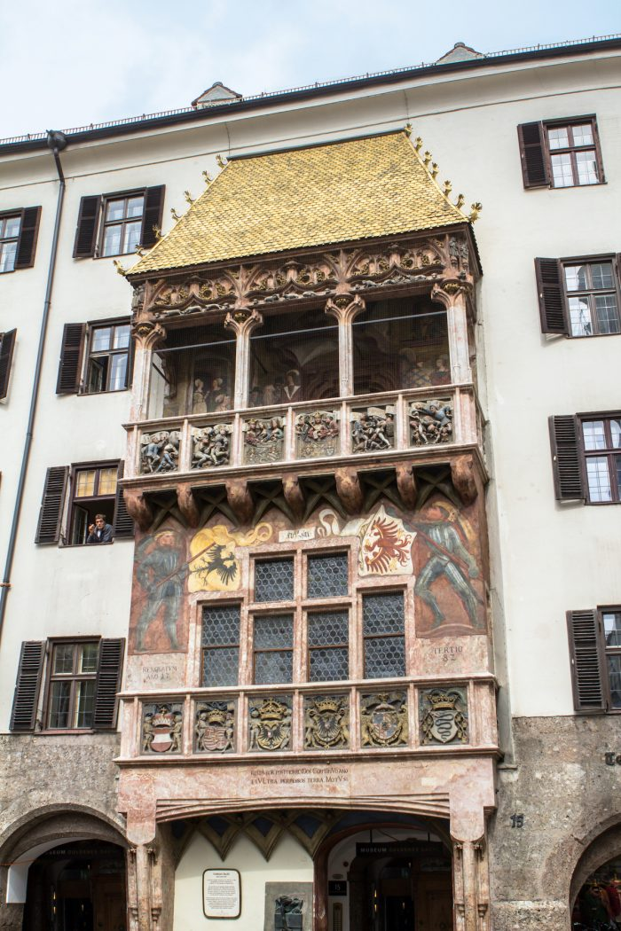 Famous golden roof in Innsbruck, Austria photo via Depositphotos