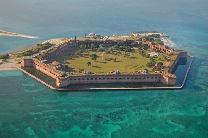Fort Jefferson, Dry Tortugas National Park photo via Depositphotos