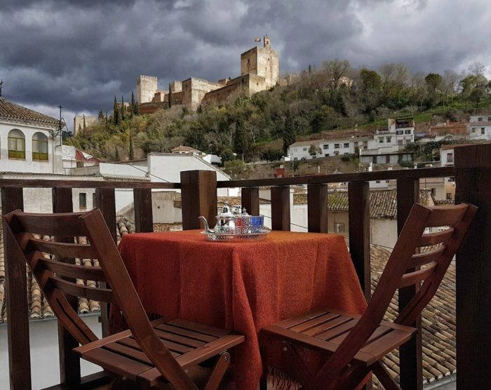 Granada Loft Rental with stunning view from the terrace