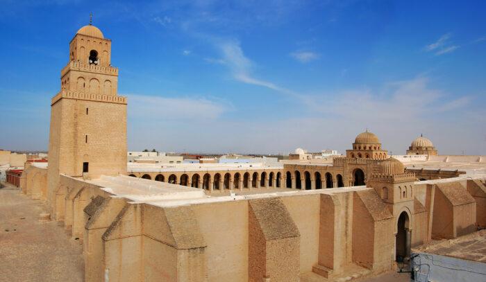 Great Mosque of Kairouan, Tunisia, photo via Depositphotos