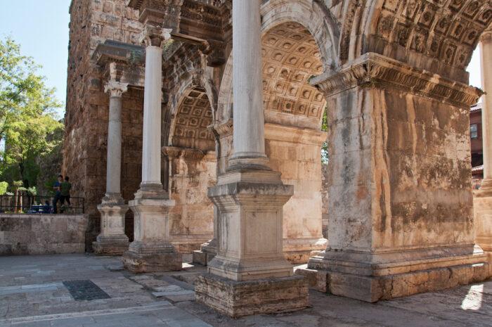 Hadrian's Gate in old town Kaleici district. Antalya, Turkey photo via Depositphotos