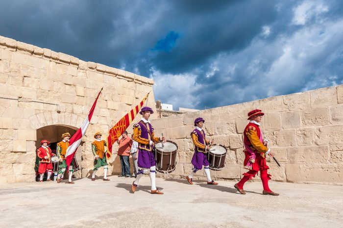 In Guardia Parade in Malta photo via Depositphotos