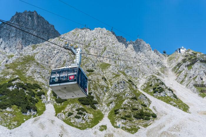 Innsbrucker Nordkette cable car in Austria photo via Depositphotos