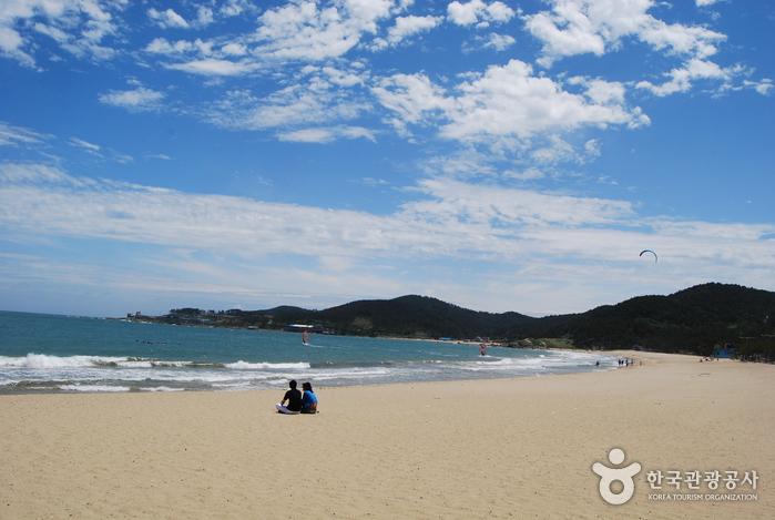 Jinha beach photo via Korea Tourism