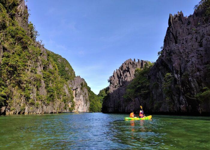 Kayaking at El Nido's Big Lagoon