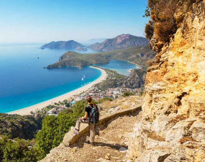 The Lycian Way is famous among hikers who take photos via Depositphotos