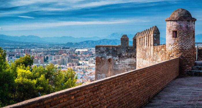 Malaga Cityscape from Alcazaba photo via Depositphotos