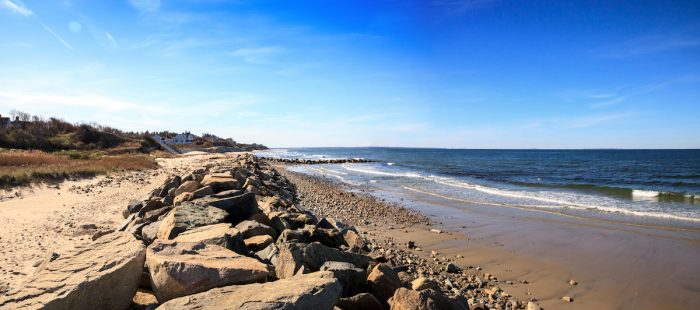 Mayflower Beach in MA photo via Depositphotos