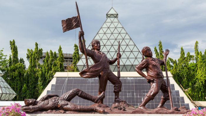 Monument Unknown Soldier Surabaya photo via Depositphotos