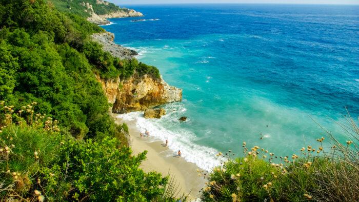 Mylopotamos beach, Pelion, Greece photos via Depositphotos