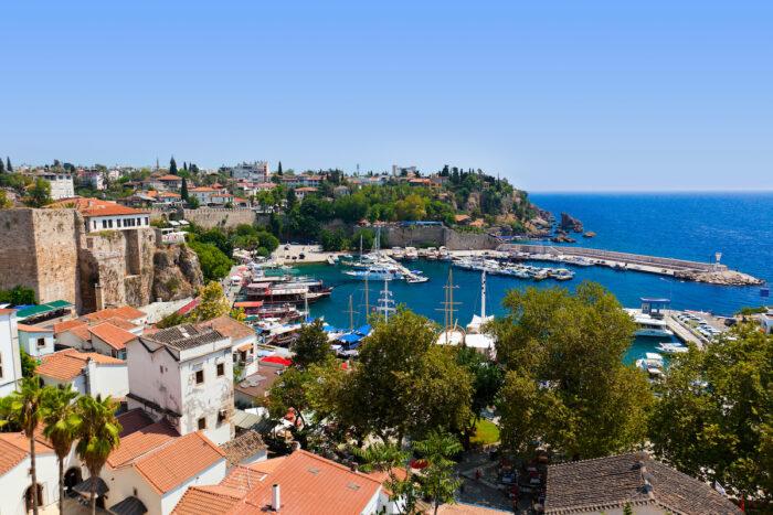 Old town Kaleici in Antalya, Turkey photo via Depositphotos