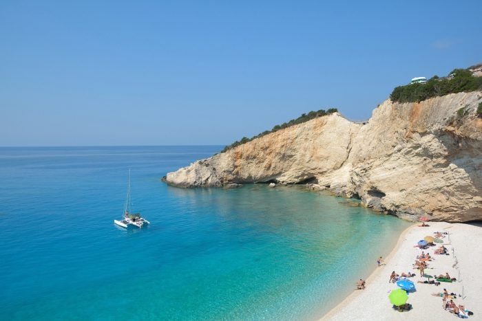 Porto Katsiki beach, Lefkada, Greece via Depositphotos