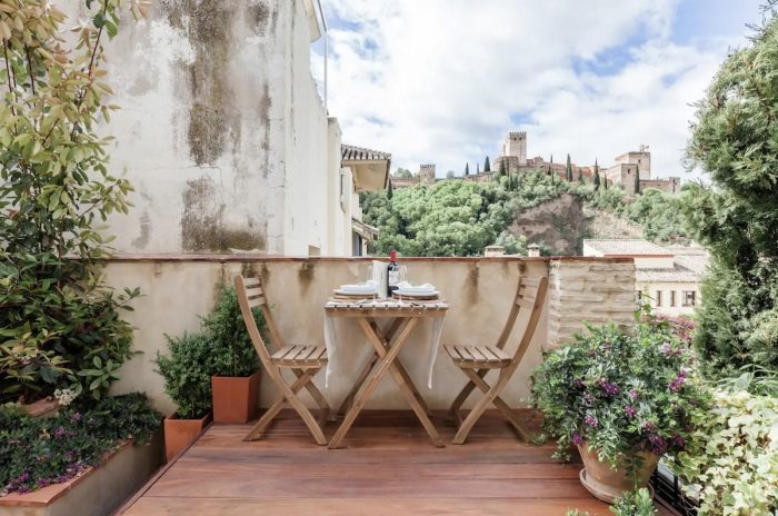 Romantic Airbnbs in Granada with a view of Alhambra Palace